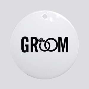 groom Round Ornament